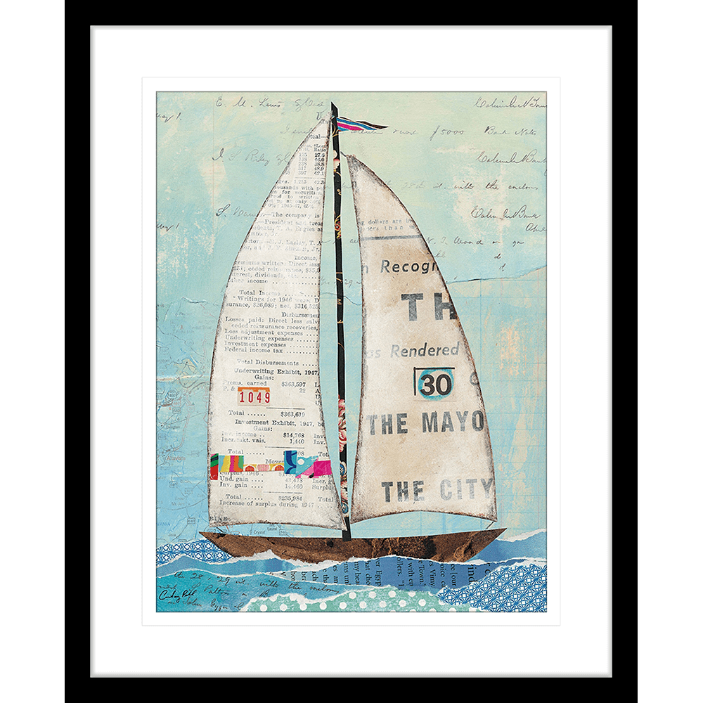 'At the Regatta' Sailing Collage | Framed Art | Wall Art Gold Coast | Wallpaper | Innovate Interiors