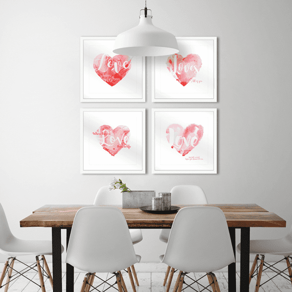 Amour Collection LOVE Styled Room   Framed Art   Wall Art Gold Coast   Wallpaper   Innovate Interiors