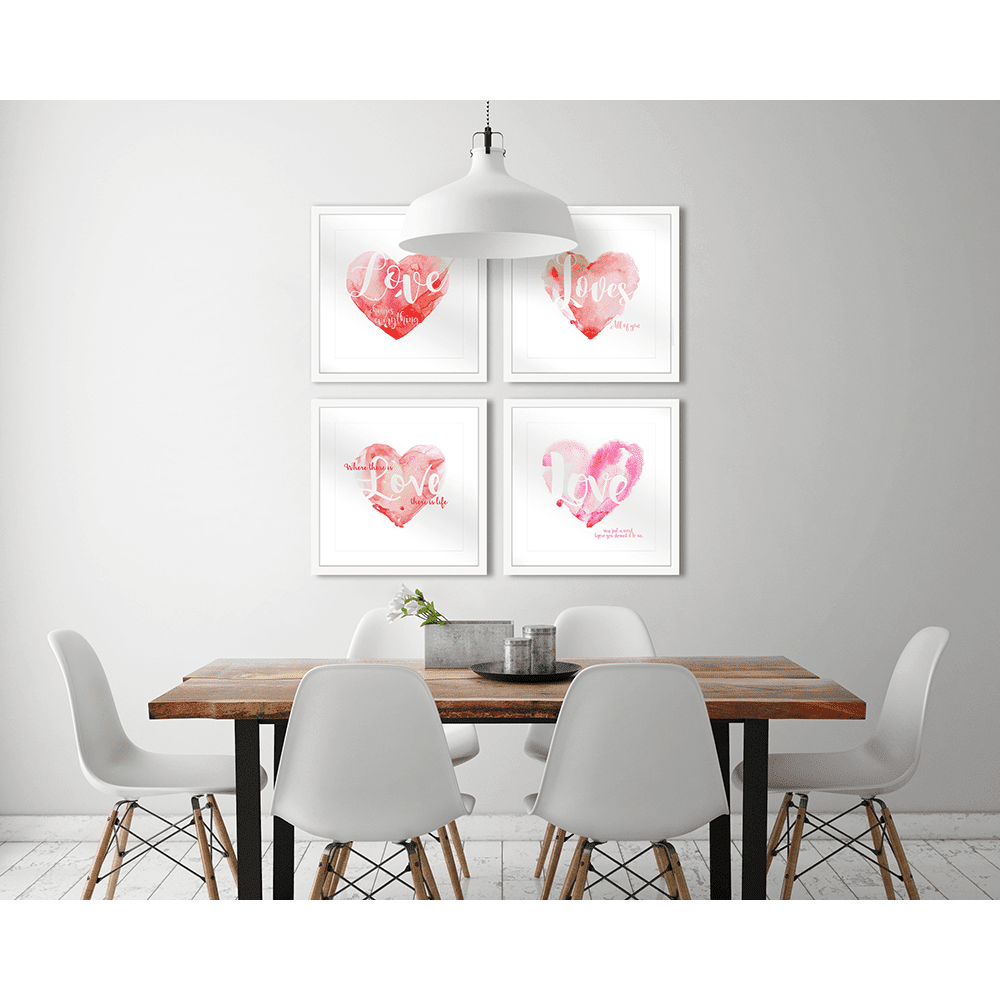 Amour Collection LOVE Styled Room | Framed Art | Wall Art Gold Coast | Wallpaper | Innovate Interiors