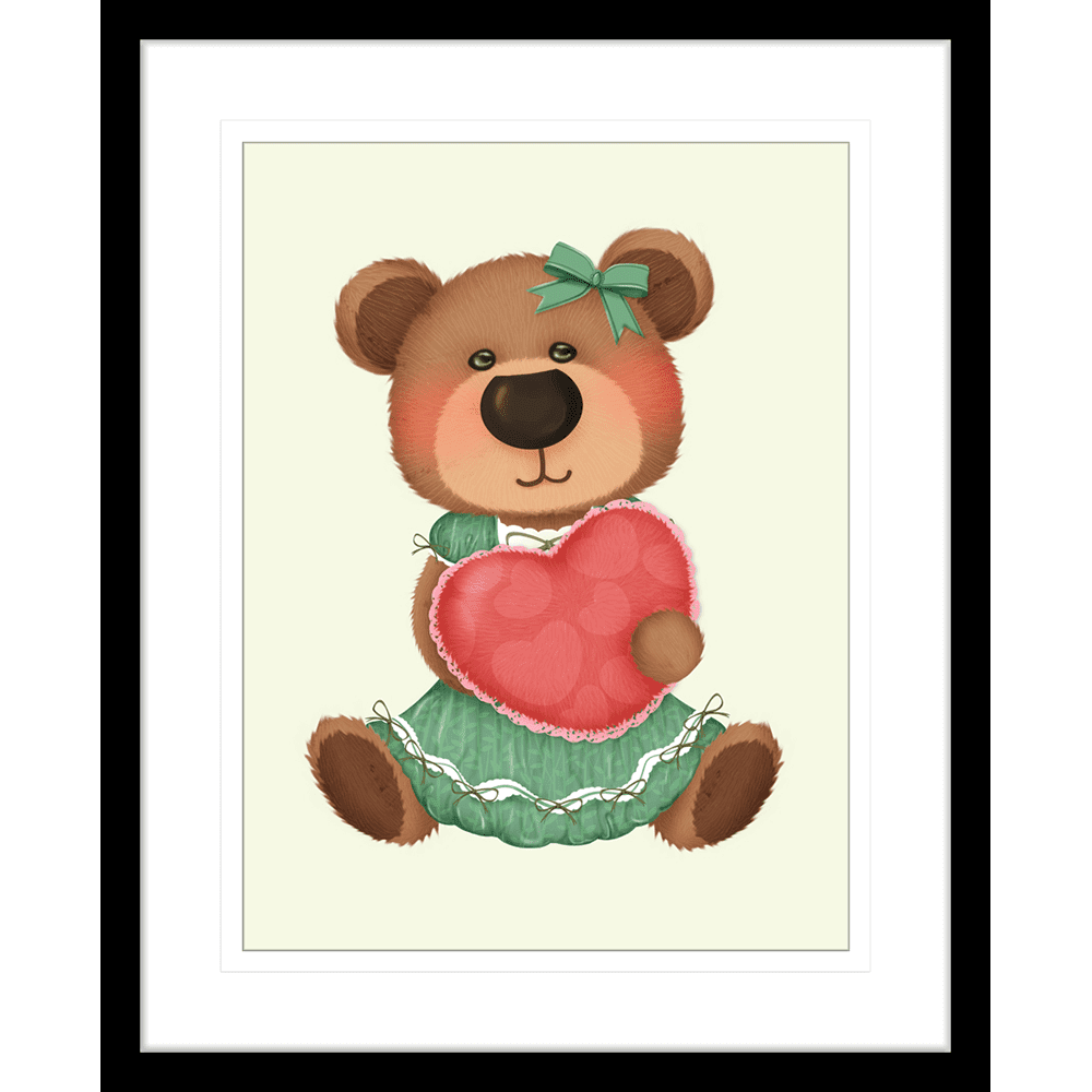 Bear-Buddies-Collection-02-Framed-Art-Print-BEAR02-Black