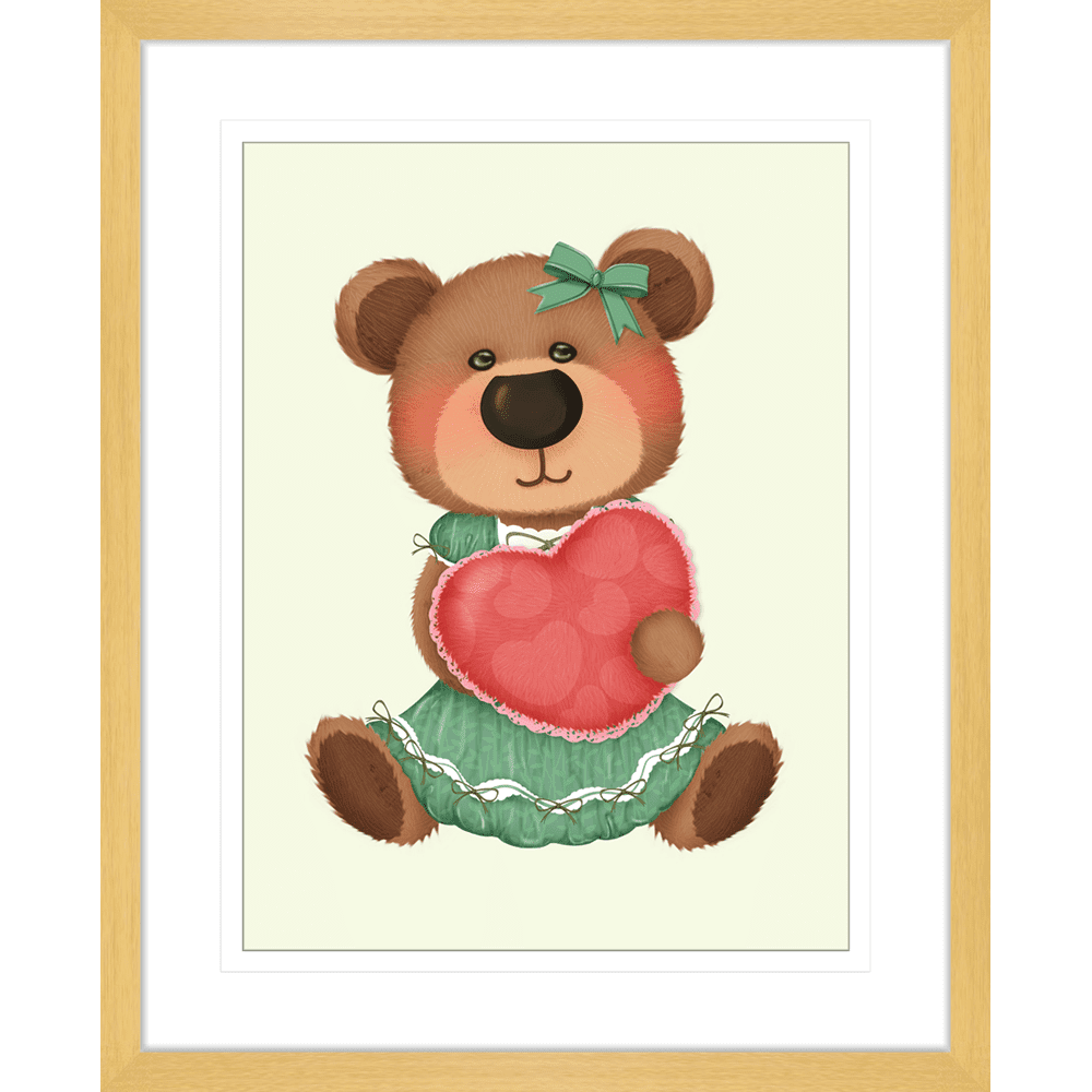 Bear-Buddies-Collection-02-Framed-Art-Print-BEAR02-Oak