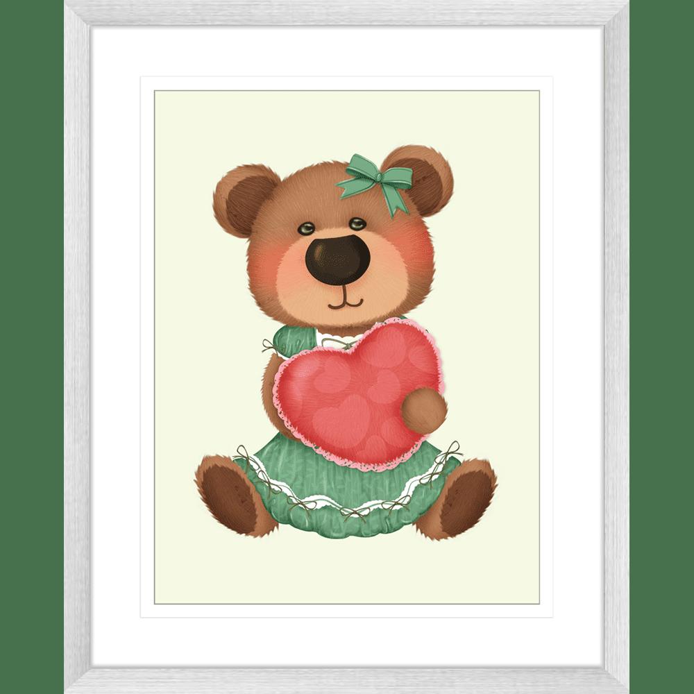 Bear-Buddies-Collection-02-Framed-Art-Print-BEAR02-Silver