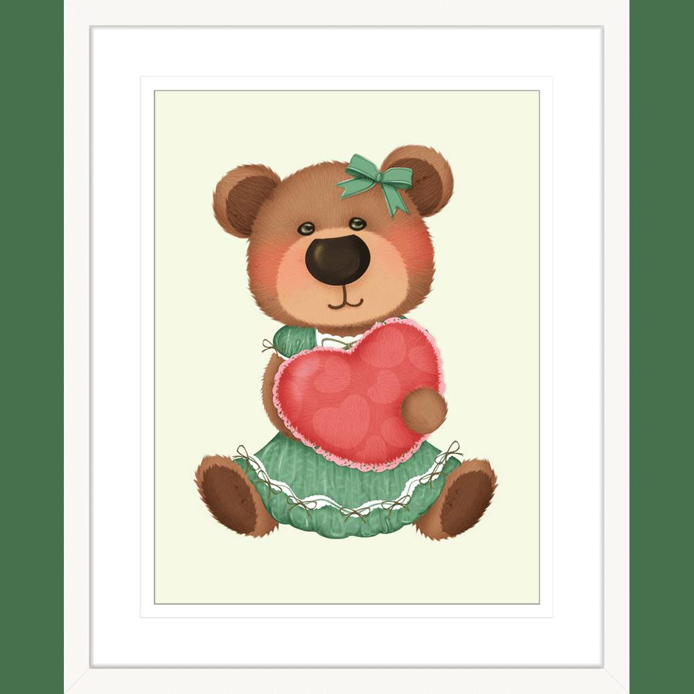 Bear-Buddies-Collection-02-Framed-Art-Print-BEAR02-White