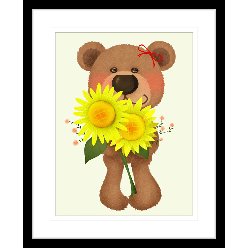 Bear-Buddies-Collection-03-Framed-Art-Print-BEAR03-Black