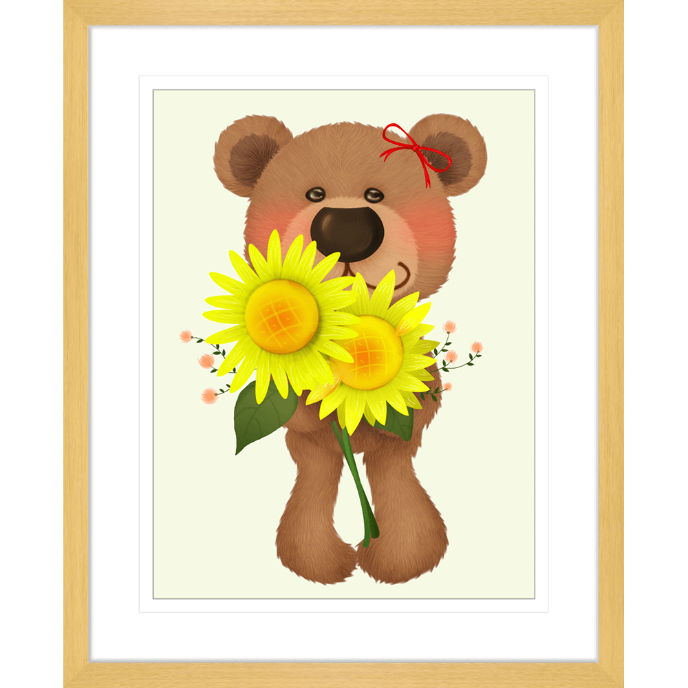 Bear-Buddies-Collection-03-Framed-Art-Print-BEAR03-Oak