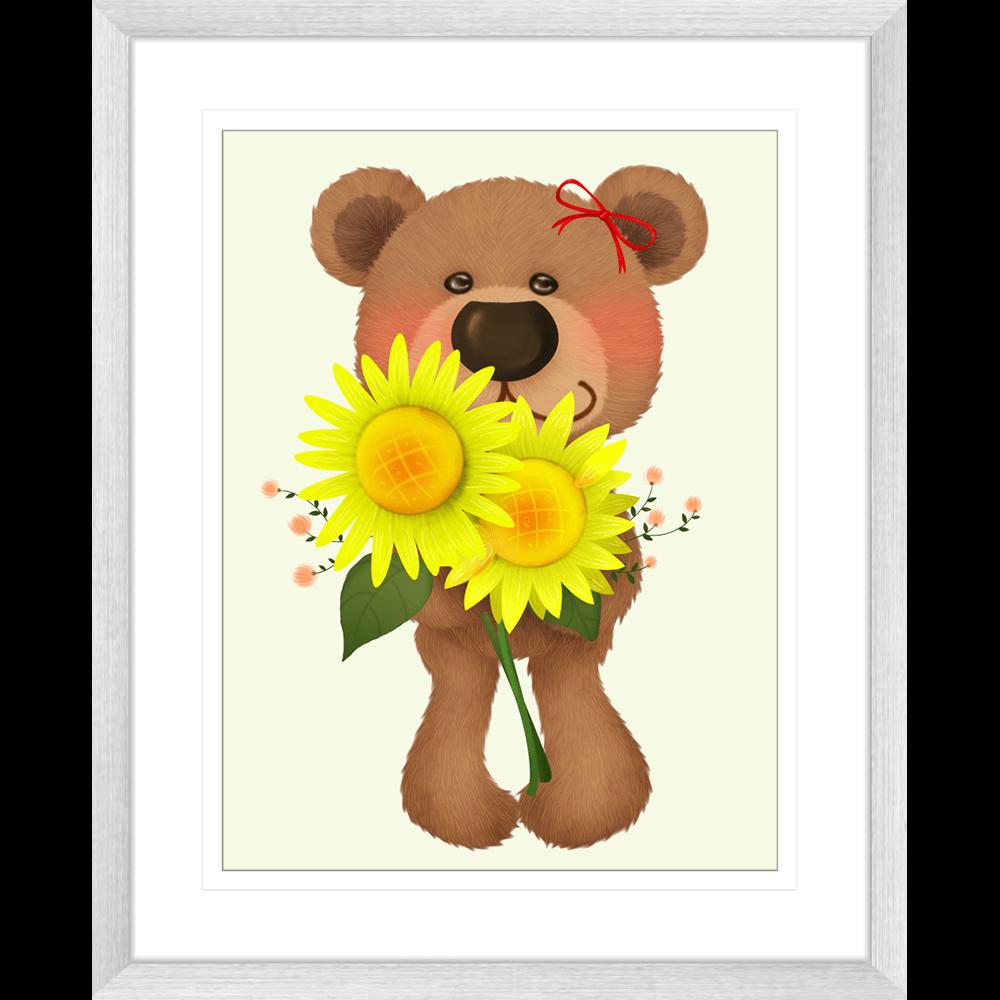 Bear-Buddies-Collection-03-Framed-Art-Print-BEAR03-Silver