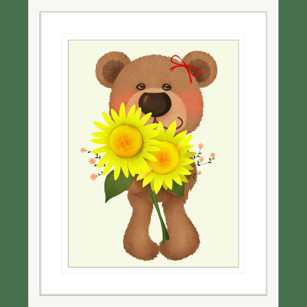 Bear-Buddies-Collection-03-Framed-Art-Print-BEAR03-White