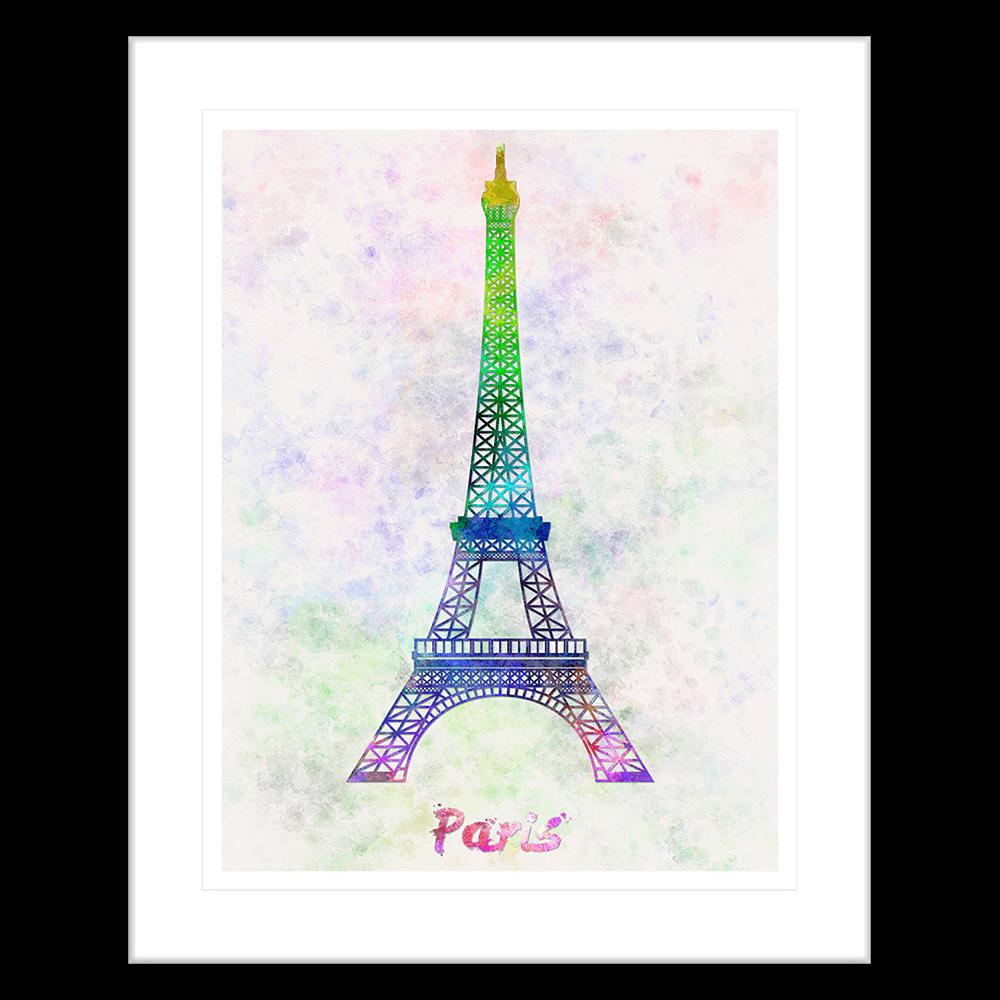 Bonjour-Paris-Collection-02-Framed-Art-Print-BON02-Blk