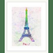 Bonjour-Paris-Collection-02-Framed-Art-Print-BON02-Wht