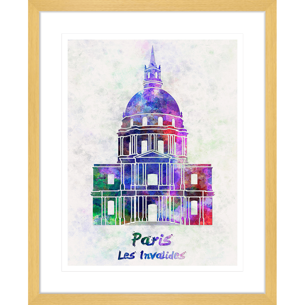 Bonjour-Paris-Collection-03-Framed-Art-Print-BON03-Oak