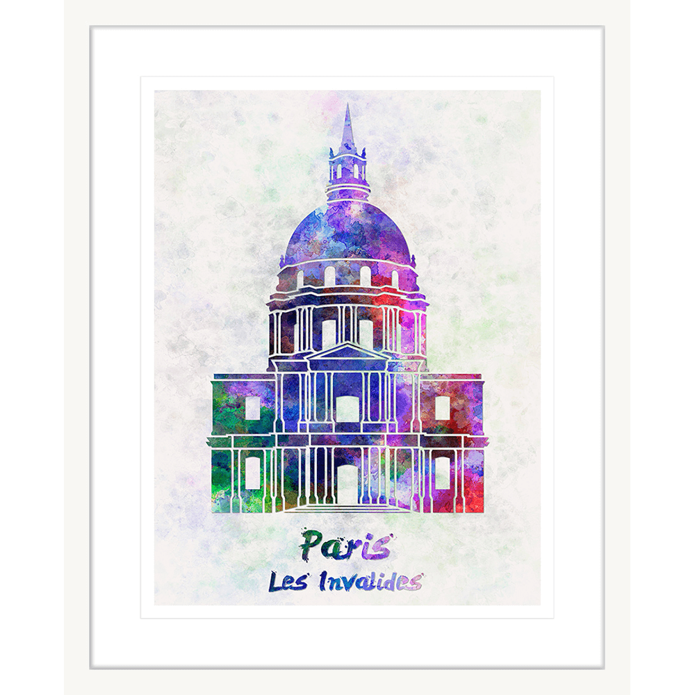 onjour-Paris-Collection-03-Framed-Art-Print-BON03-Wht