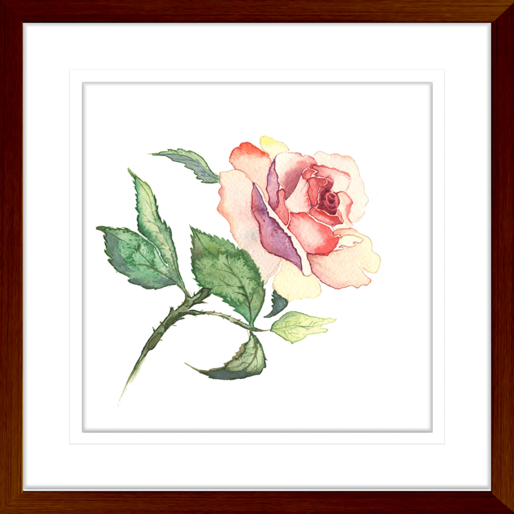 Botanicals-Collection-Framed-Art-Print-WB02-TEAK