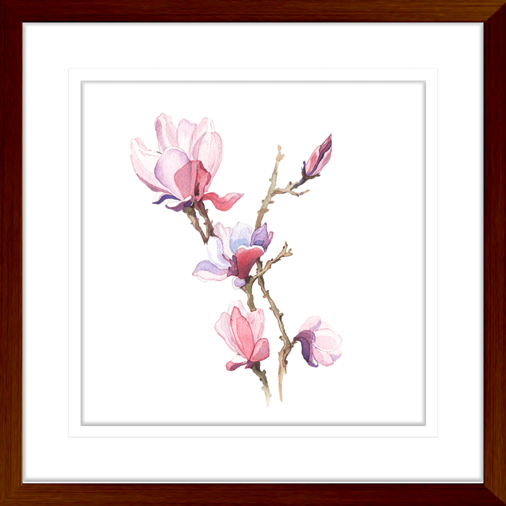 Botanicals-Collection-Framed-Art-Print-WB04-TEAK
