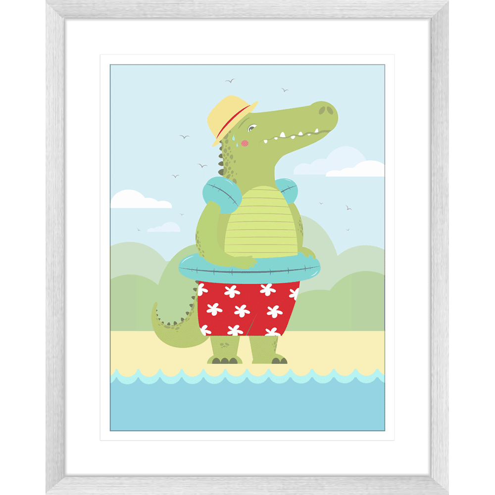 Curious Critters Collection #04 - Framed Art Print - CUR04 Sil
