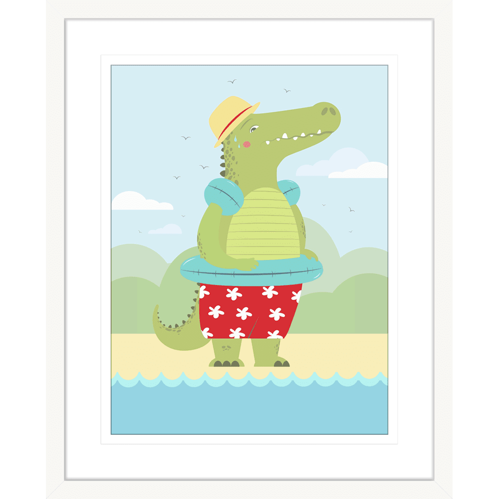 Curious Critters Collection #04 - Framed Art Print - CUR04 Wht