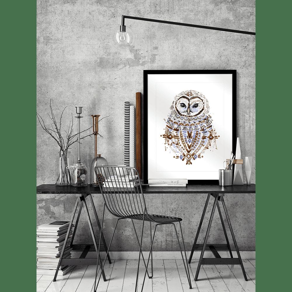 Inca Owls | Framed Art | Wall Art Gold Coast | Wallpaper | Innovate Interiors