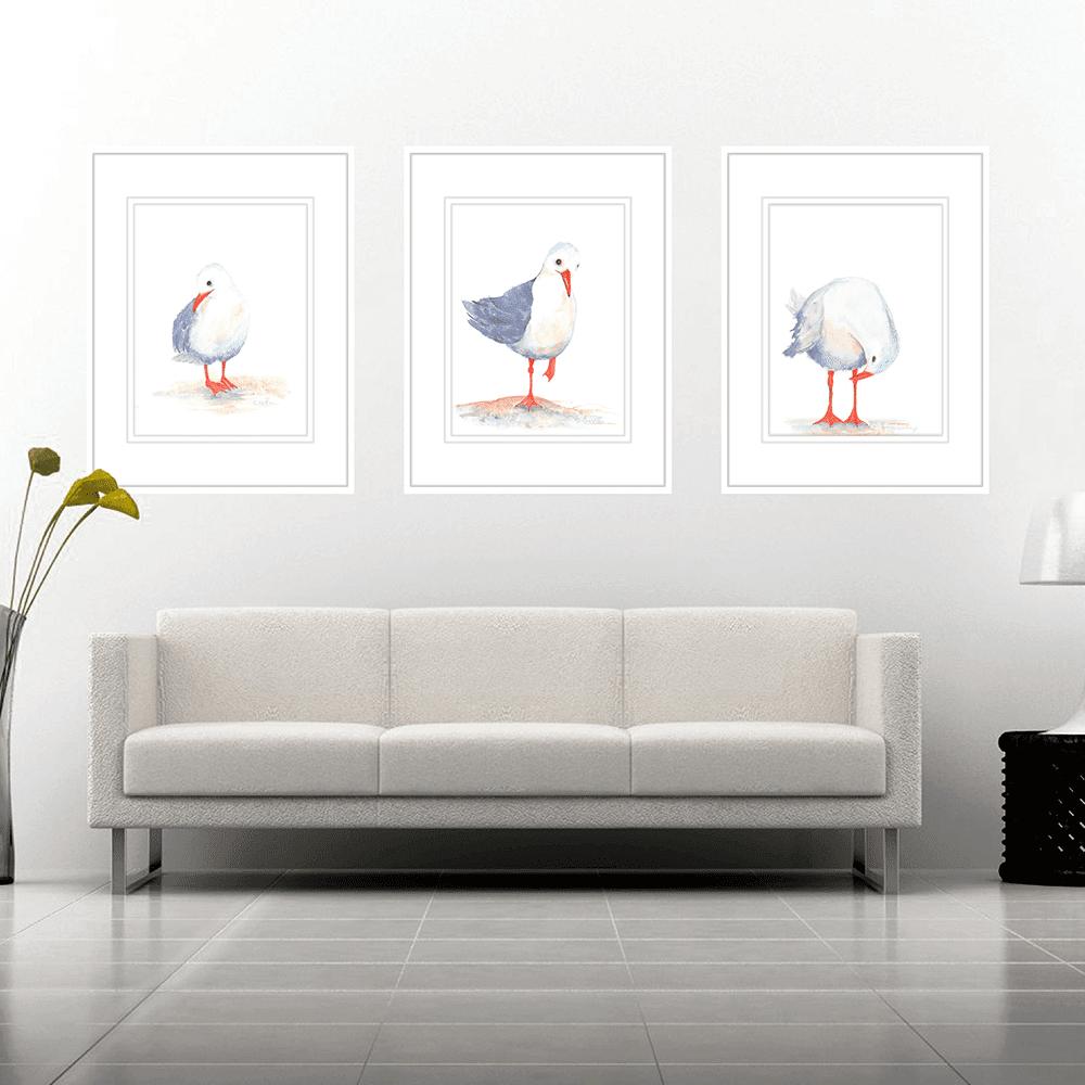Watercolour Seagulls