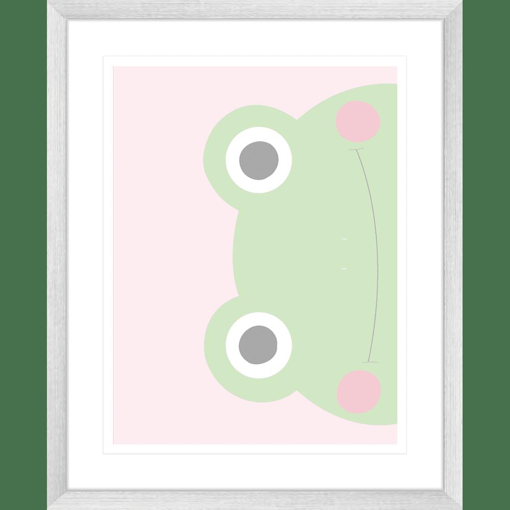 Sideways Frog Faraway Friends Collection #02 - Framed Art Print - FAR02 Sil