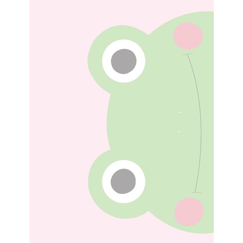 Sideways Frog Faraway Friends Collection #02 - Stretched Canvas & Paper Print - FAR02