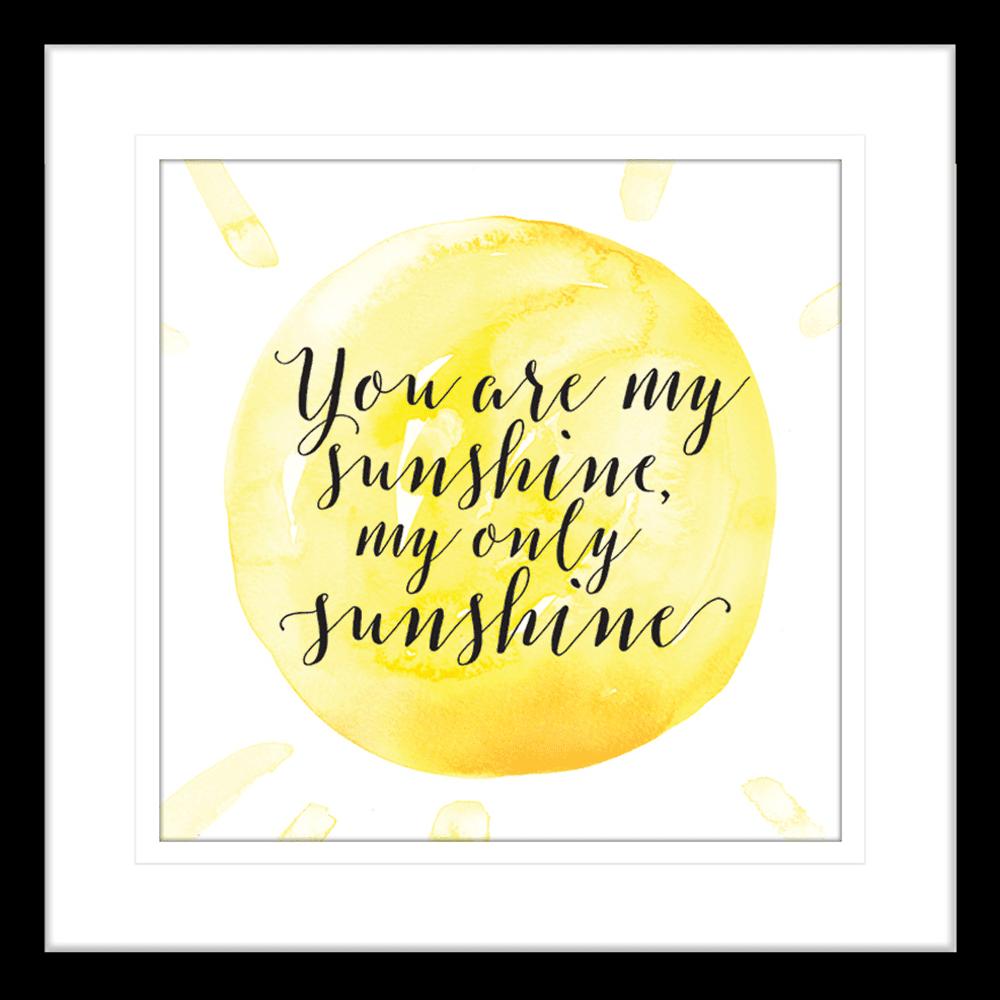 Sunshine (You are my) | Framed Art | Wall Art Gold Coast | Wallpaper | Innovate Interiors