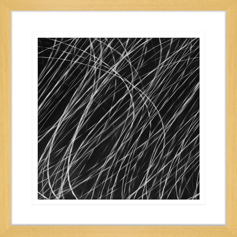 Urban Lights Collection - URB01 - Framed Art Print Oak
