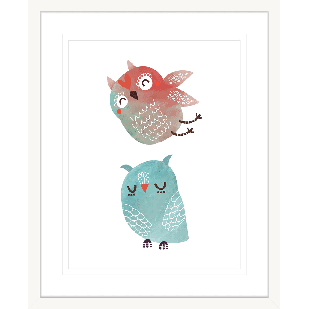 Woodland Owls | Framed Art | Wall Art Gold Coast | Wallpaper | Innovate Interiors