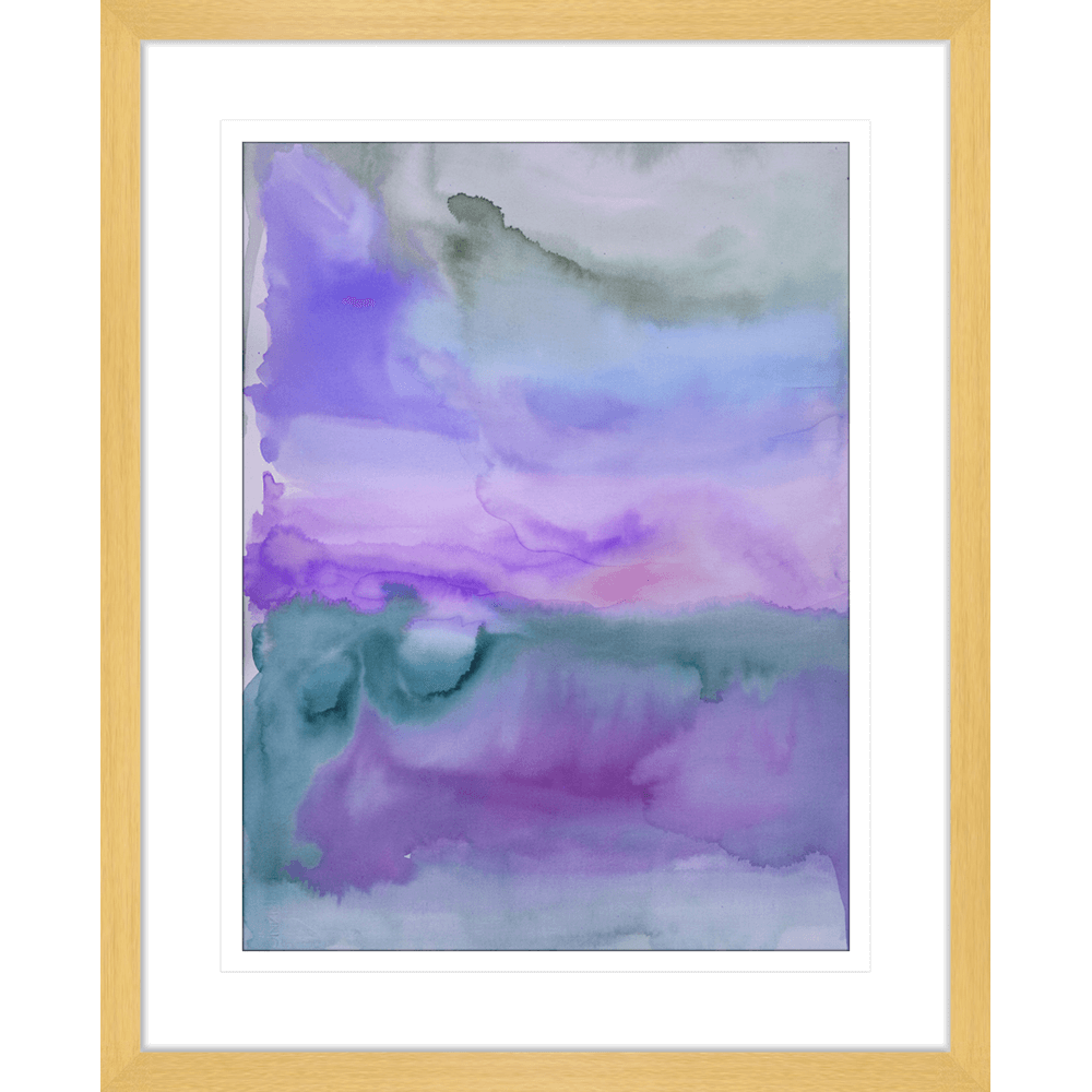 'The Structure Of Purple' Watercolour Abstracts | Framed Art | Wall Art Gold Coast | Wallpaper | Innovate Interiors