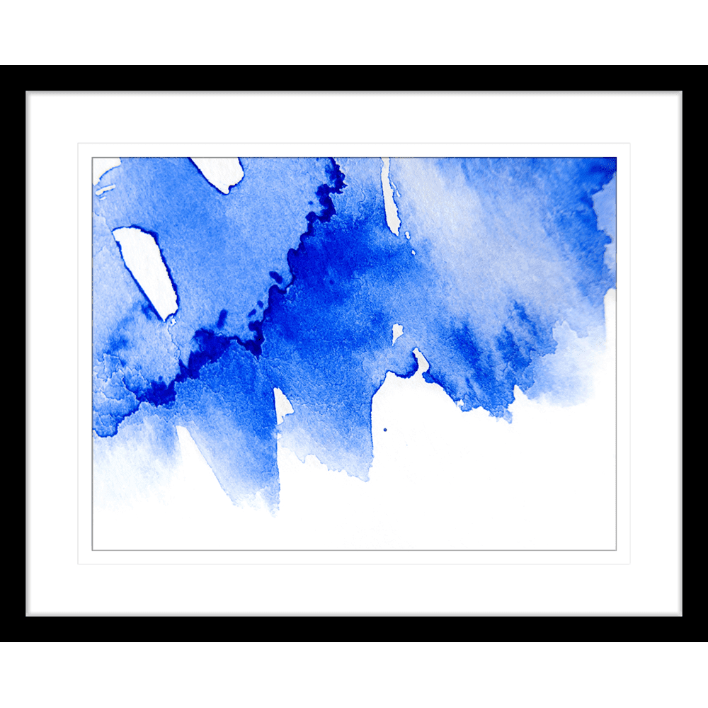 'Frosted Indigo' Watercolour Abstracts| Framed Art | Wall Art Gold Coast | Wallpaper | Innovate Interiors