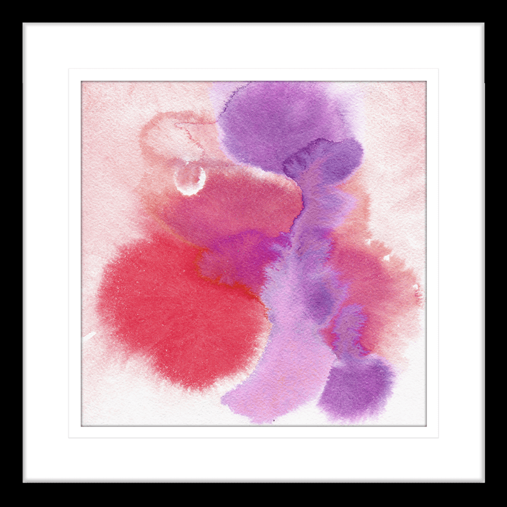 'Raspberry Parfait' Watercolour Abstracts | Framed Art | Wall Art Gold Coast | Wallpaper | Innovate Interiors