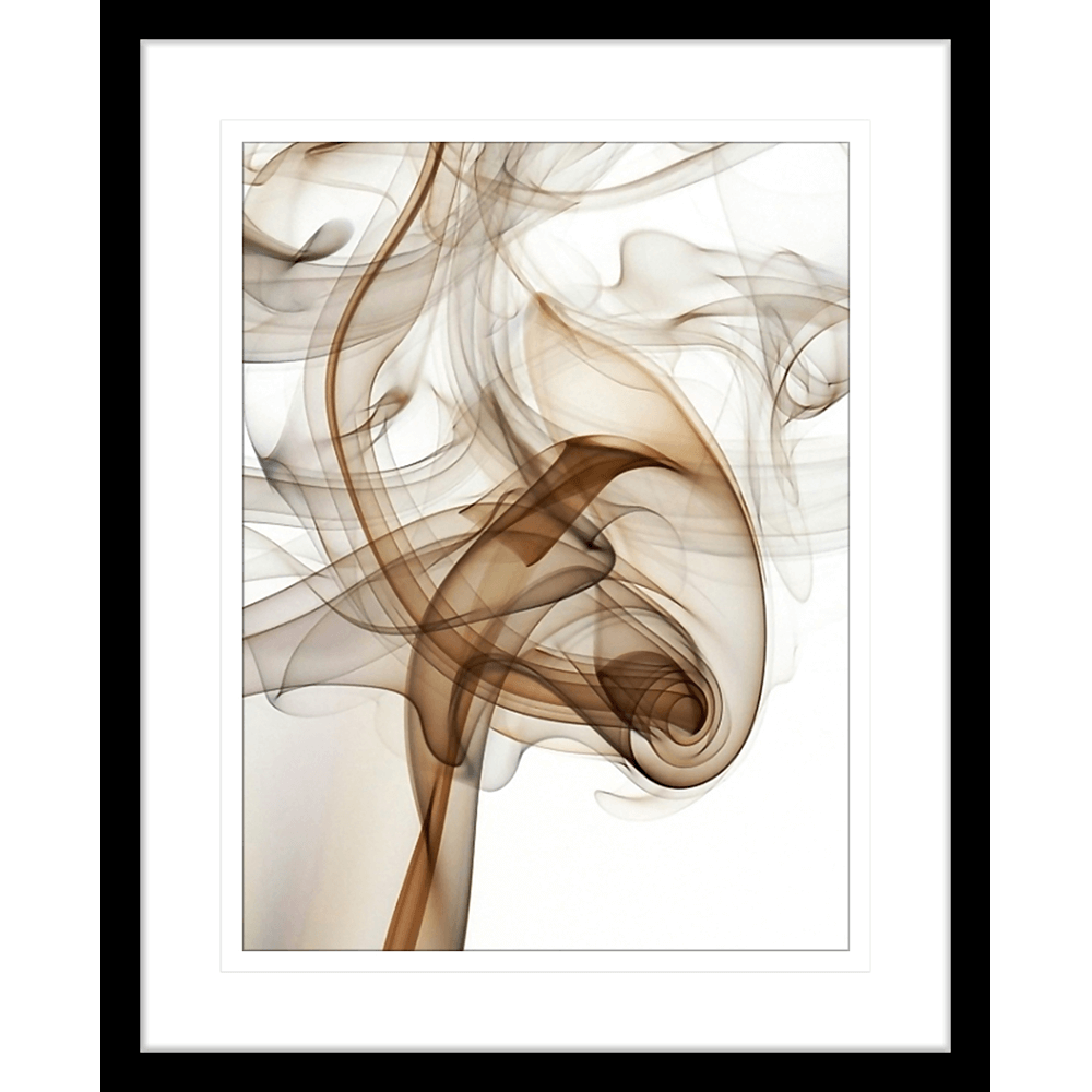 Wisp Smoke Abstract Brown | Framed Art | Wall Art Gold Coast | Wallpaper | Innovate Interiors