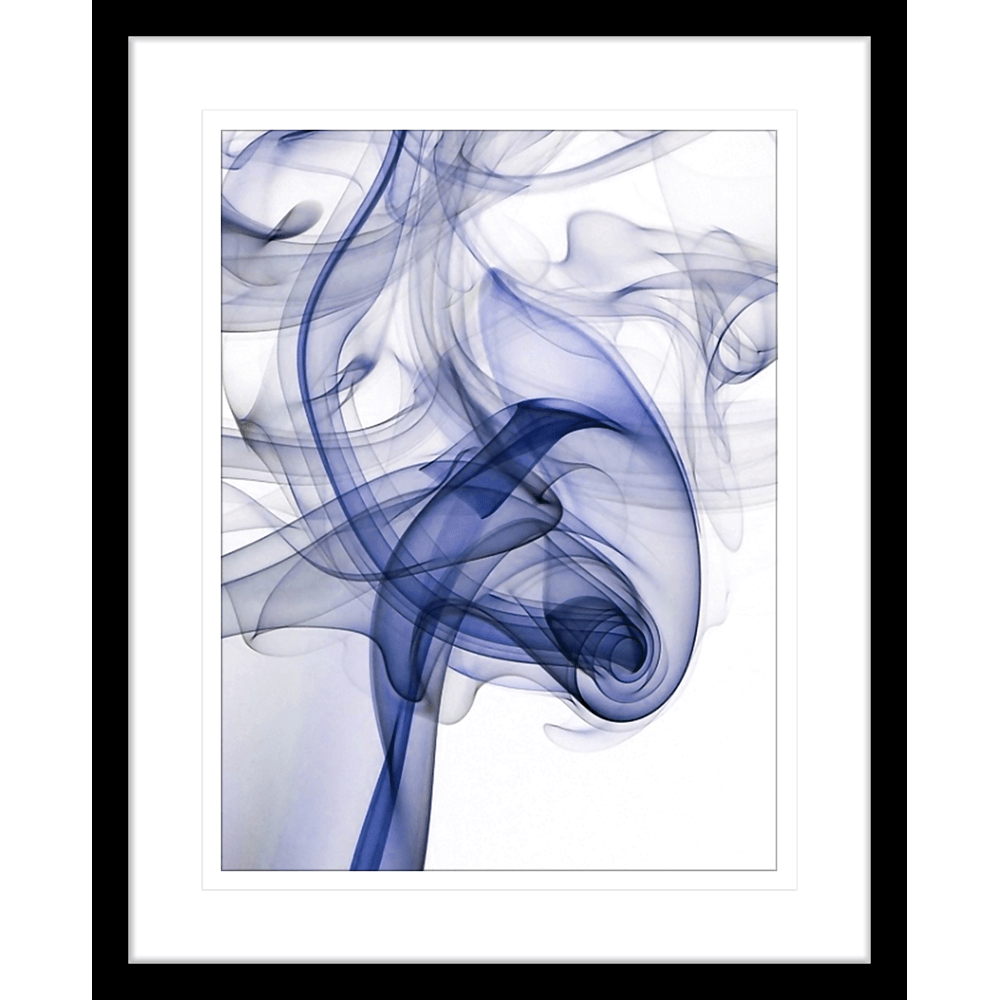 Wisp Smoke Abstract #01 - Navy - Innovate Interiors