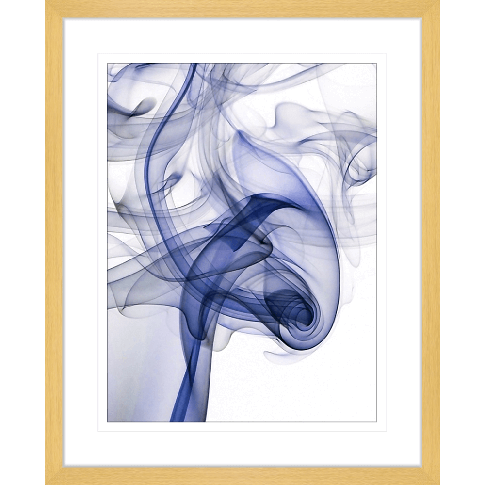 Wisp Smoke Abstract Navy | Framed Art | Wall Art Gold Coast | Wallpaper | Innovate Interiors
