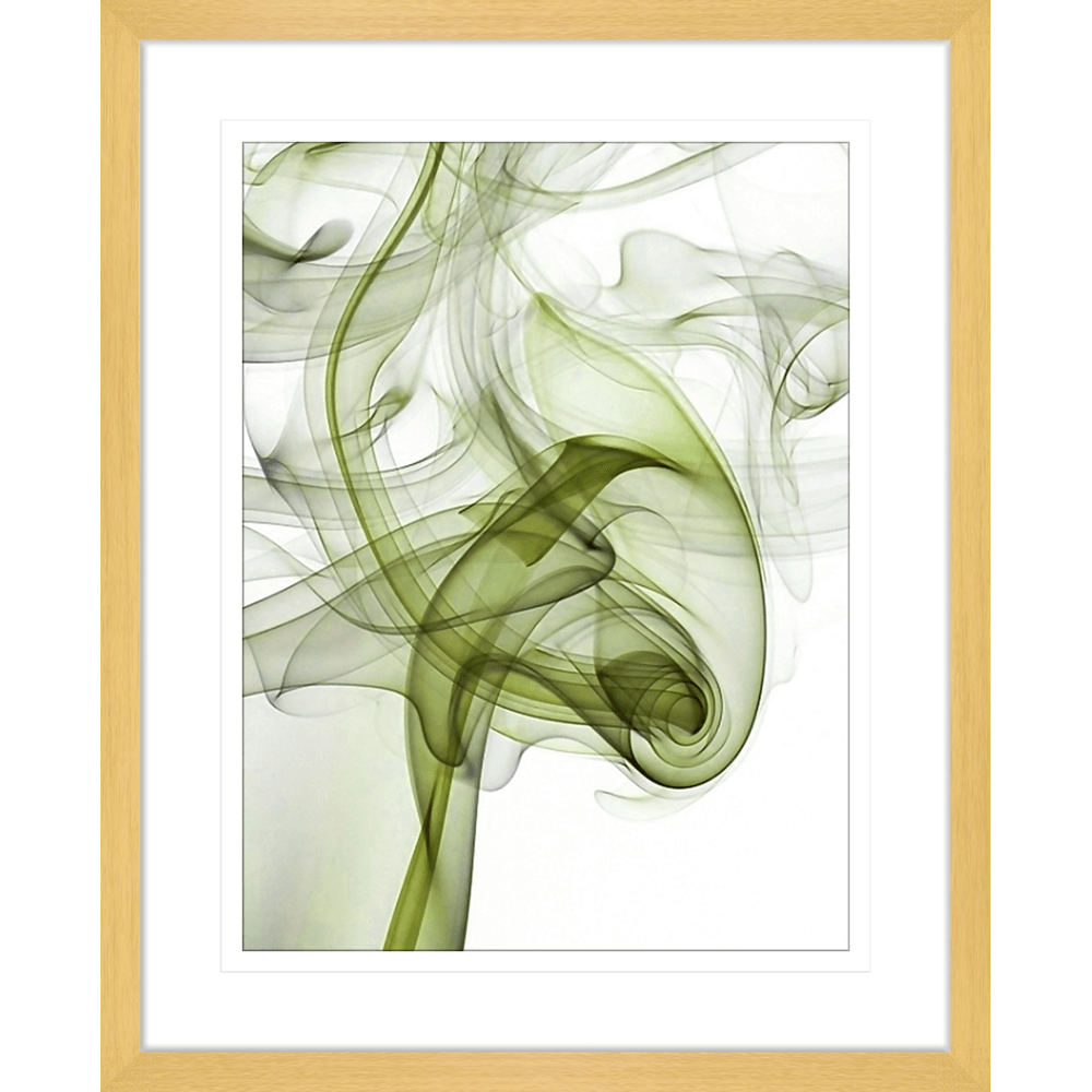 Wisp Smoke Abstract Olive | Framed Art | Wall Art Gold Coast | Wallpaper | Innovate Interiors
