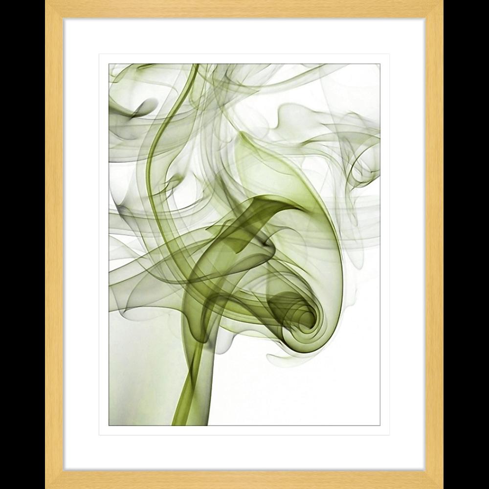 Wisp Smoke Abstract Olive | Framed Art | Wall Art Gold Coast | Wallpaper | Innovate Interiors