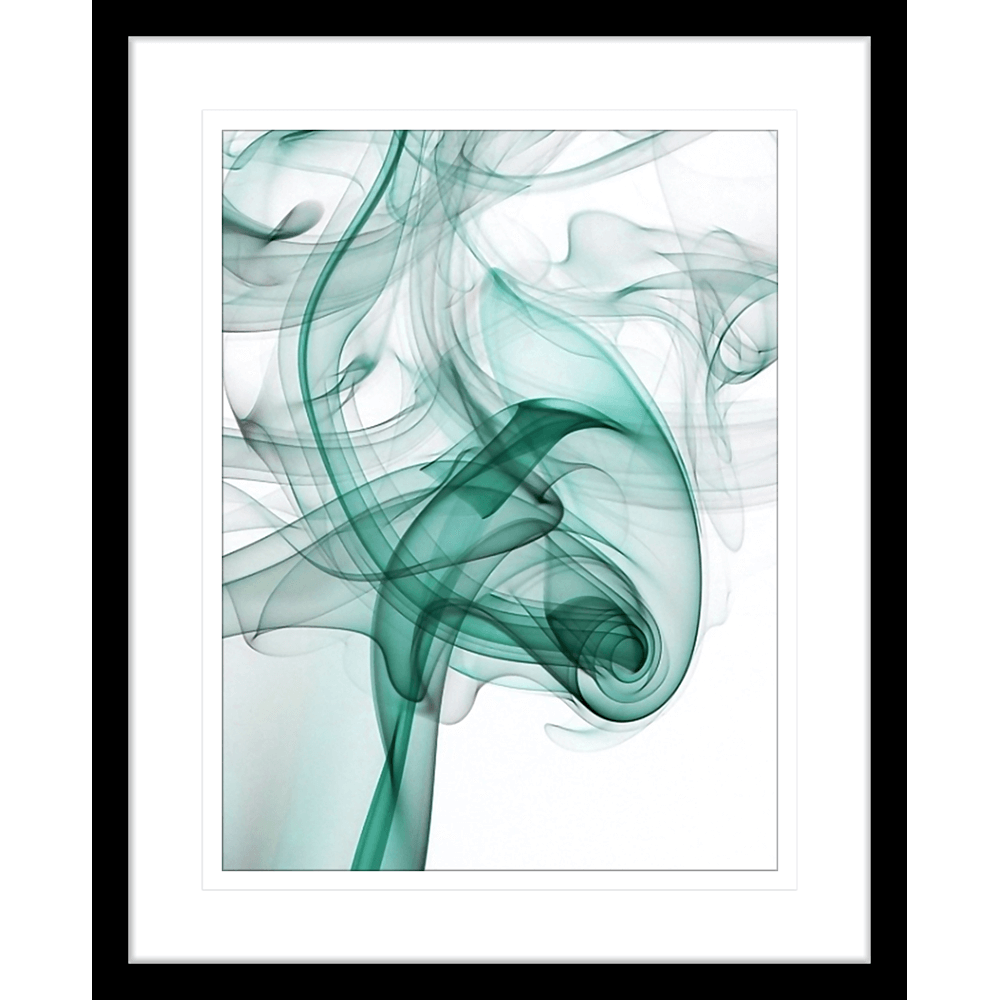 Wisp Smoke Abstract Turquoise | Framed Art | Wall Art Gold Coast | Wallpaper | Innovate Interiors