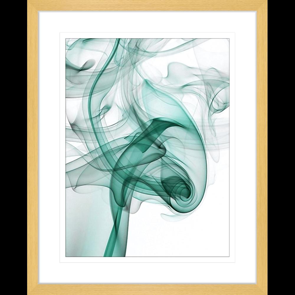 Wisp Smoke Abstract Turquoise | Framed Art | Wall Art Gold Coast | Wallpaper | Innovate Interiors