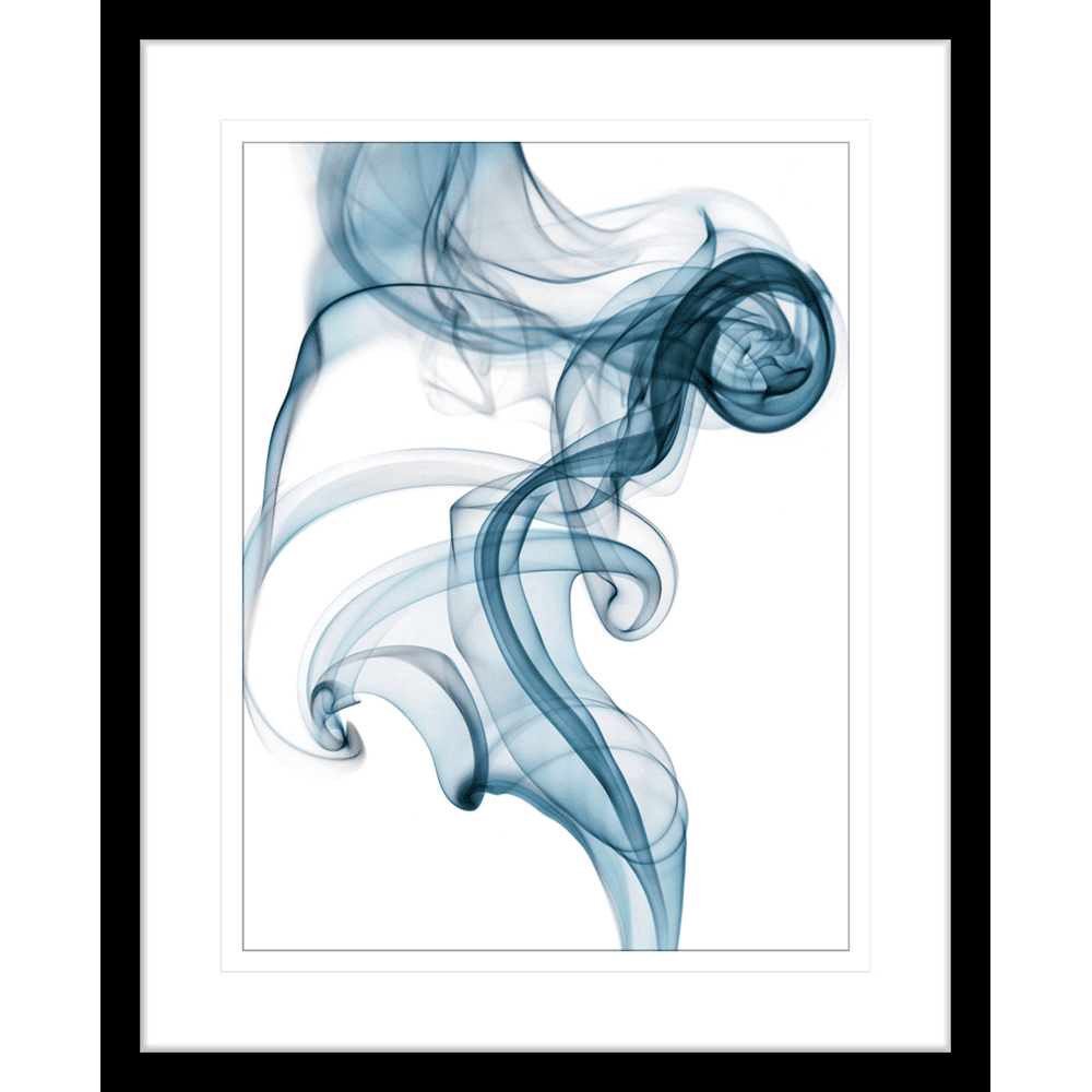 Wisp Smoke Abstract Blue | Framed Art | Wall Art Gold Coast | Wallpaper | Innovate Interiors