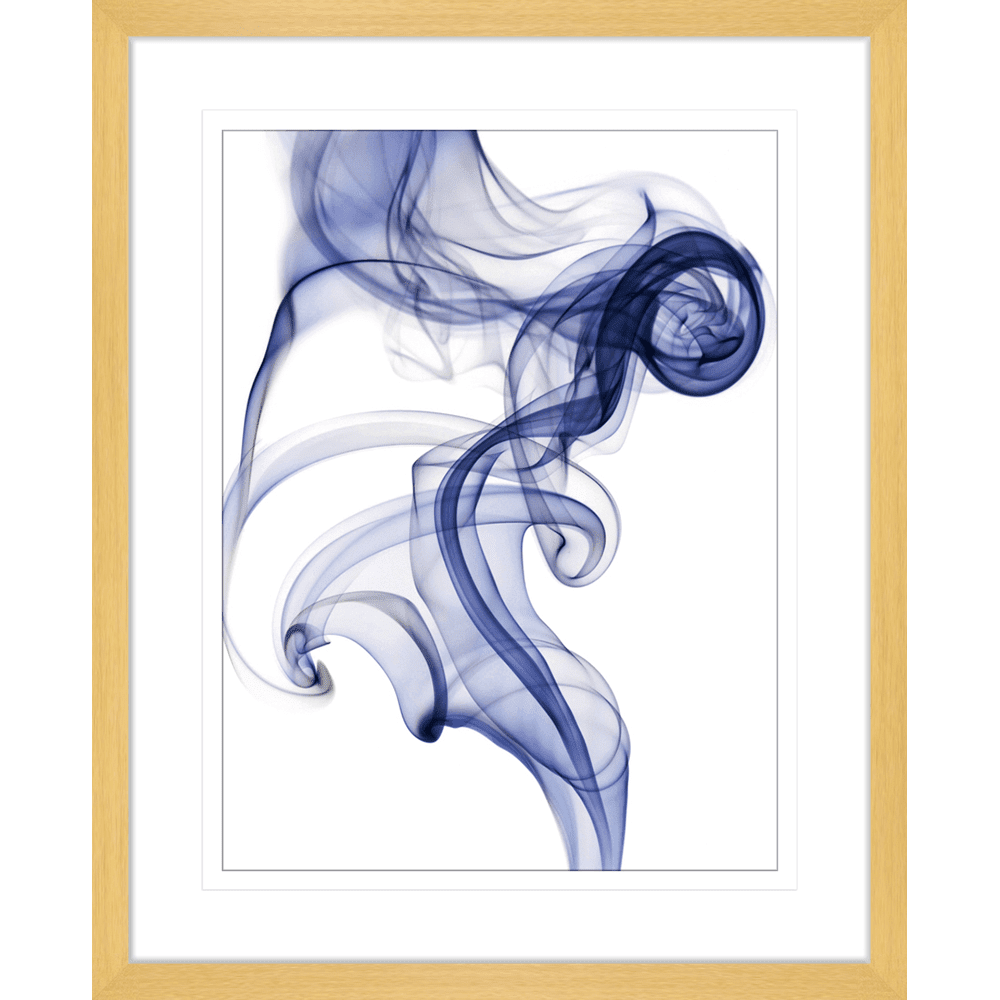 Wisp Smoke Abstract Navy | Framed Art | Wall Art Gold Coast | Wallpaper | Innovate Interiors