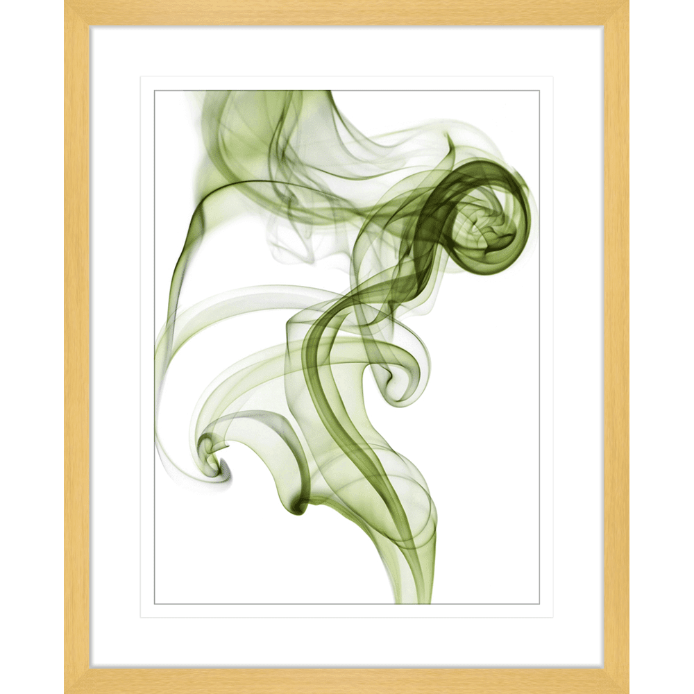 Wisp Smoke Abstract Olive| Framed Art | Wall Art Gold Coast | Wallpaper | Innovate Interiors