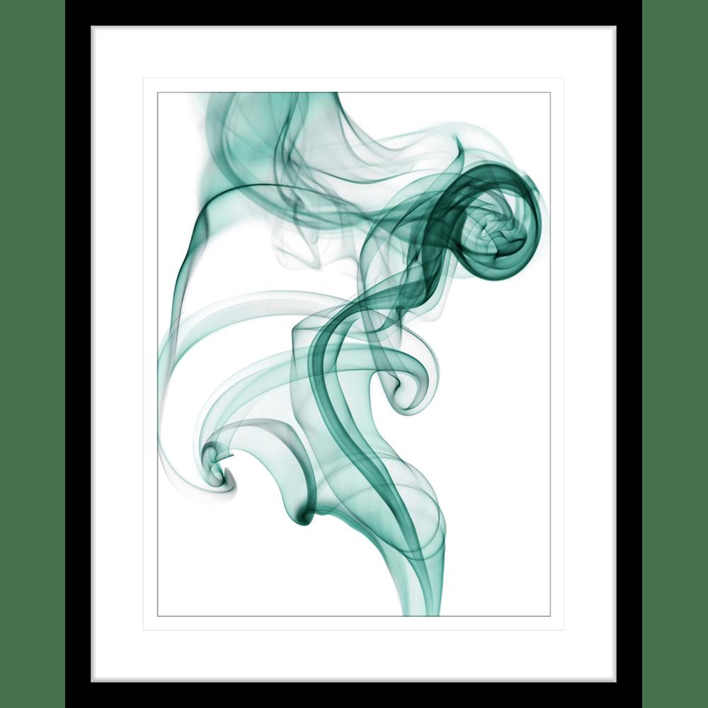 Wisp Smoke Abstract #02Turquoise | Framed Art | Wall Art Gold Coast | Wallpaper | Innovate Interiors