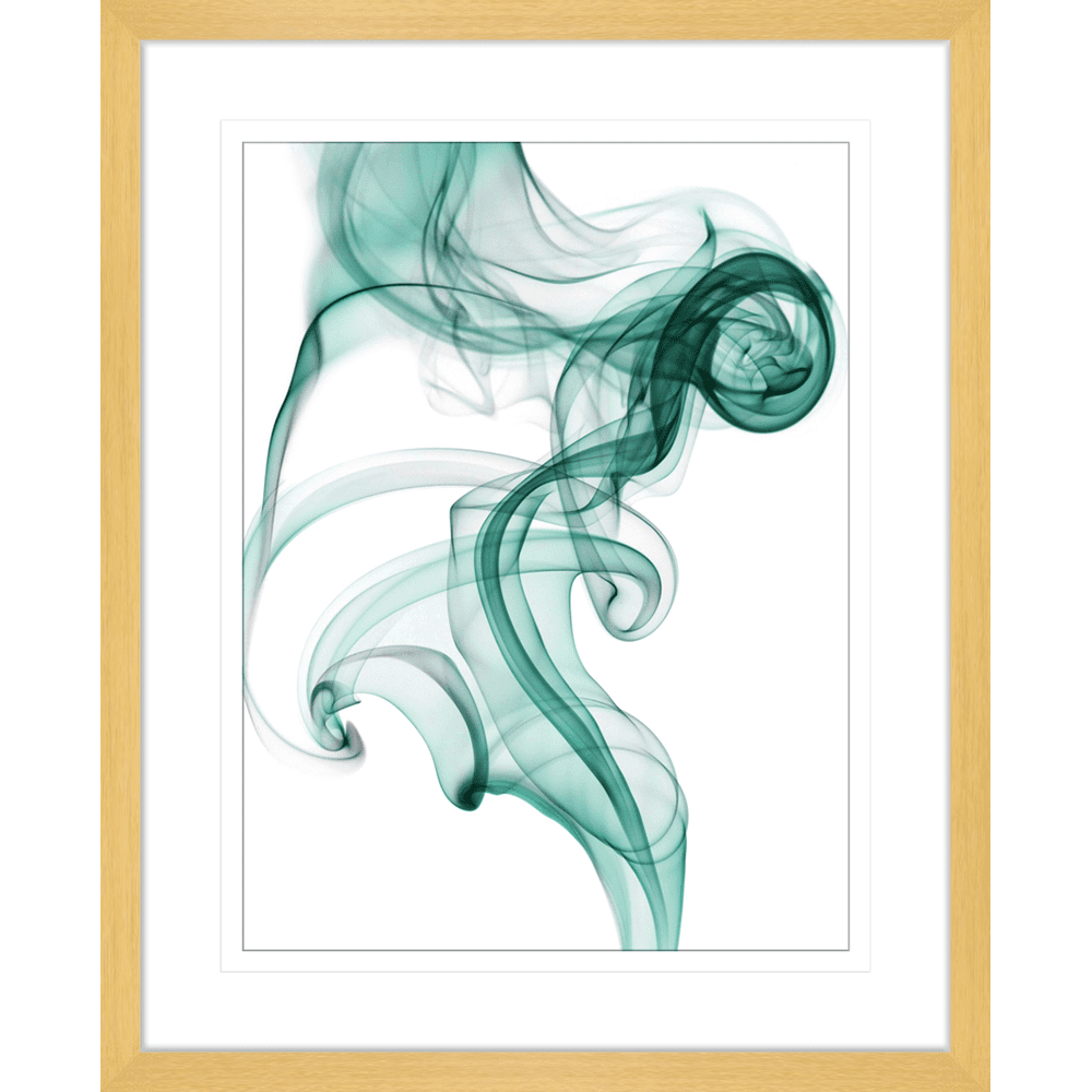 Wisp Smoke Abstract #02Turquoise | Framed Art | Wall Art Gold Coast | Wallpaper | Innovate Interiors
