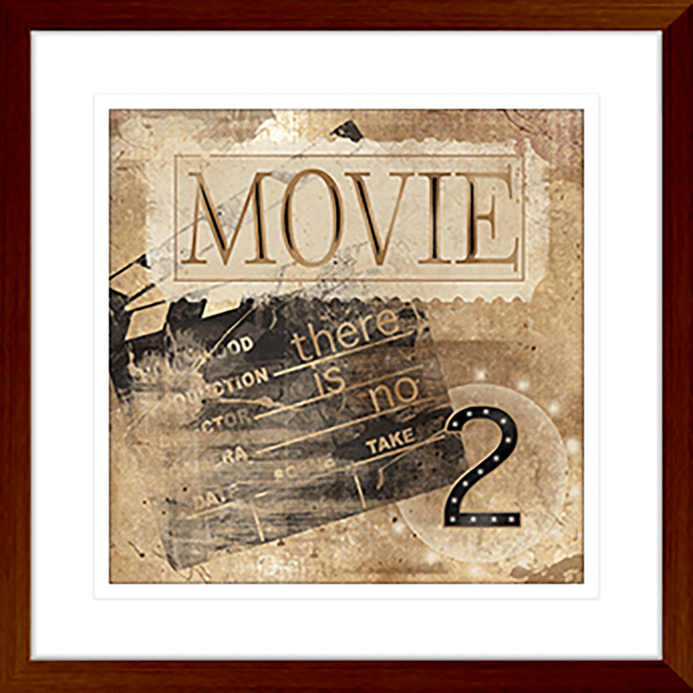 'Movie' Silver Screen | Framed Art | Wall Art Gold Coast | Wallpaper | Innovate Interiors