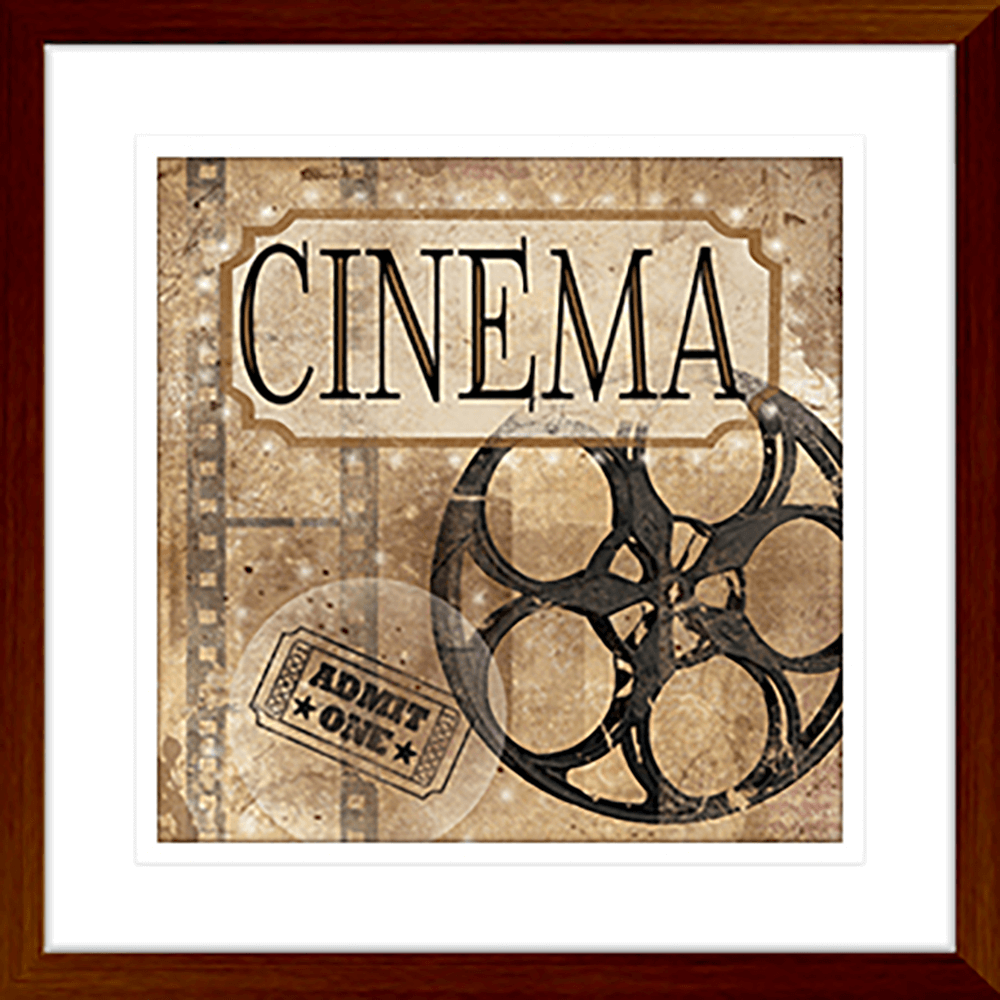 'Cinema' Silver Screen | Framed Art | Wall Art Gold Coast | Wallpaper | Innovate Interiors