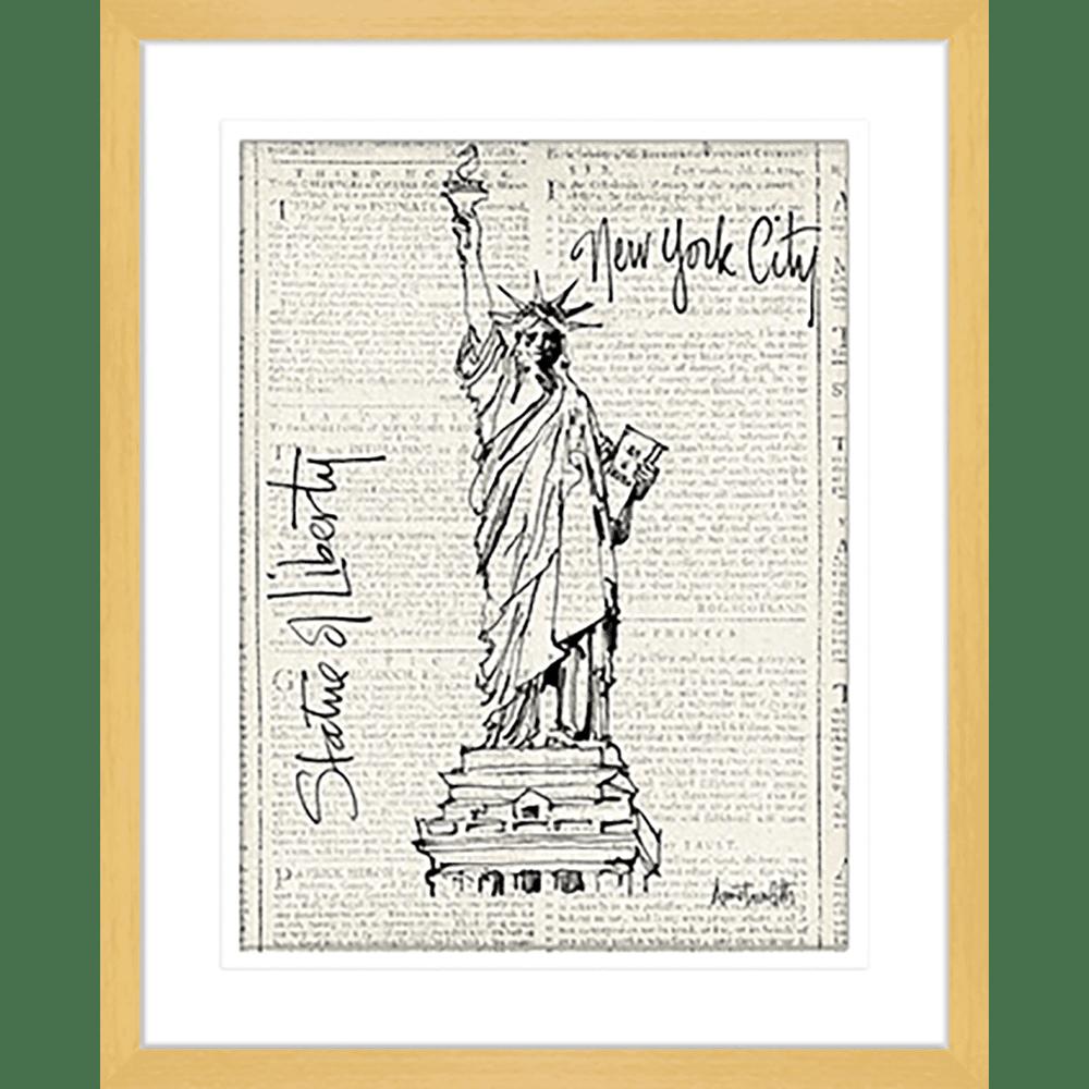 15892wa ratio 1.27 NY City Sketches I Oak