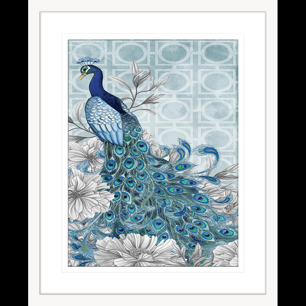 Peacocks Blue | Framed Art | Wall Art Gold Coast | Wallpaper | Innovate Interiors
