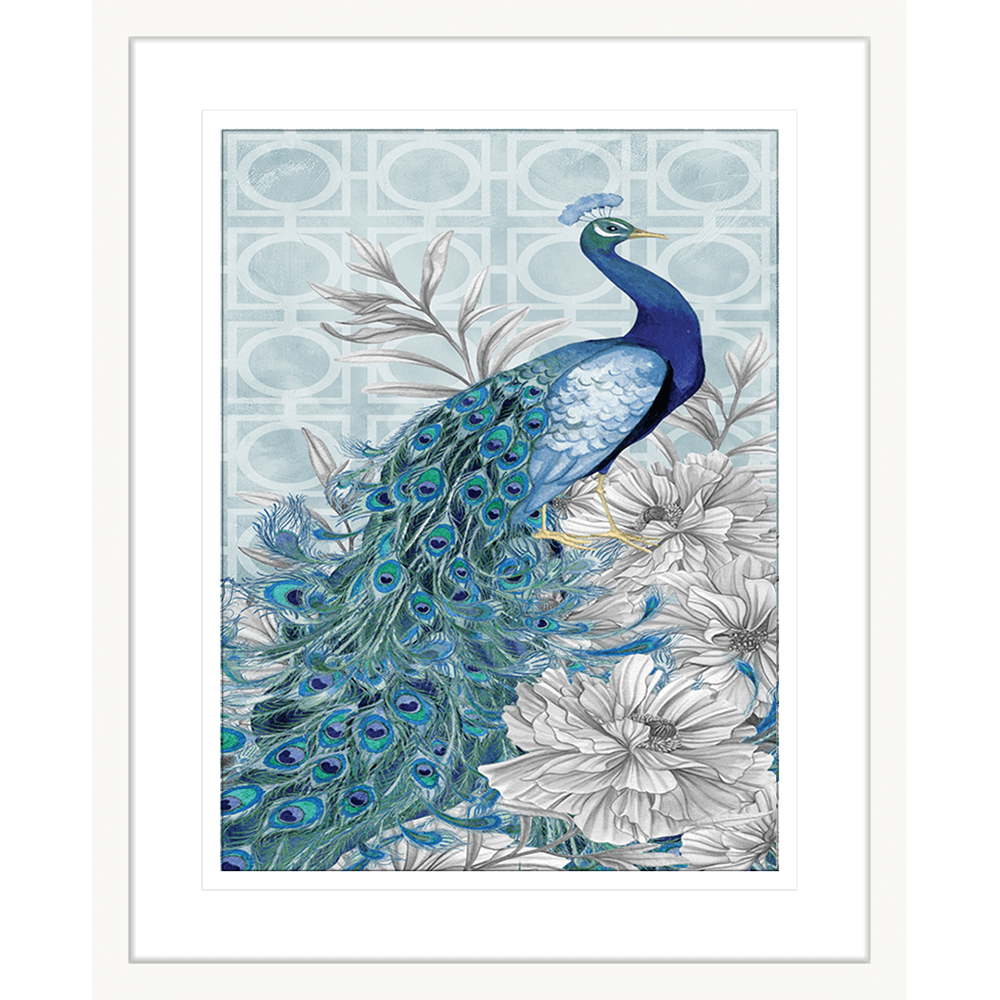 Peacocks Blue | Framed Art | Wall Art Gold Coast | Wallpaper | Innovate Interiors
