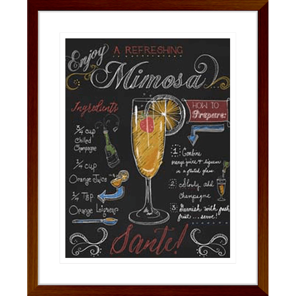 'Mimosa' Classic Cocktails| Framed Art | Wall Art Gold Coast | Wallpaper | Innovate Interiors