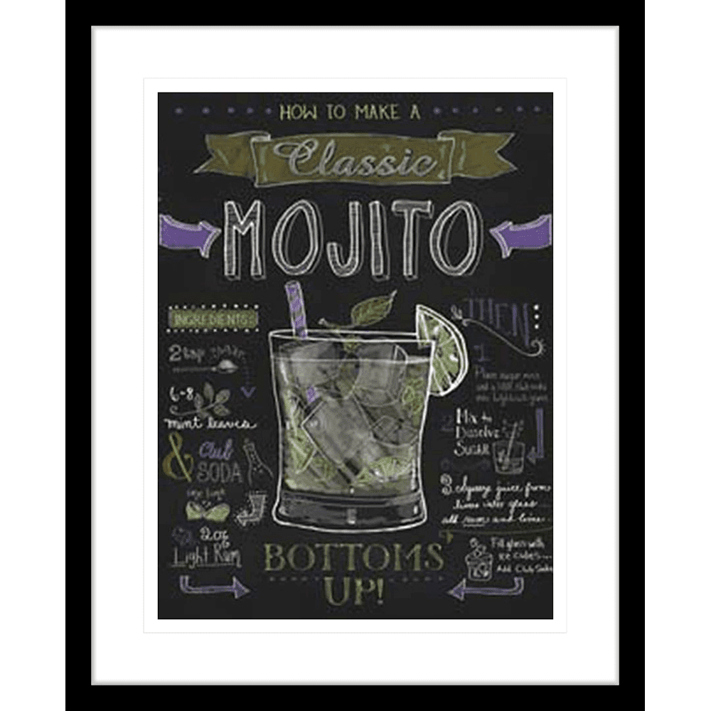 'Mojito' Classic Cocktails | Framed Art | Wall Art Gold Coast | Wallpaper | Innovate Interiors