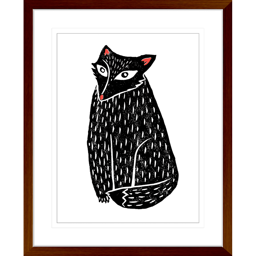 Finnigan & Friends - FINN03 - Framed Art Print Teak
