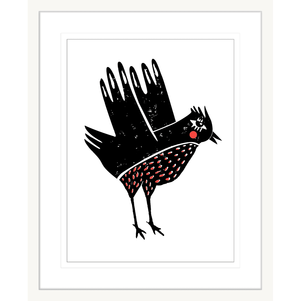 Finnigan & Friends - FINN04 - Framed Art Print White